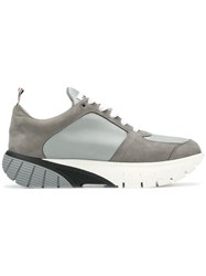 Thom Browne Raised Tech Running Shoe Grey