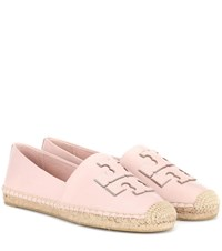 Tory Burch Leather Espadrilles Pink