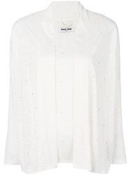 Max And Moi Beaded Cardigan White