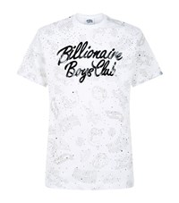 Billionaire Boys Club Galaxy Print Short Sleeve T Shirt Male White