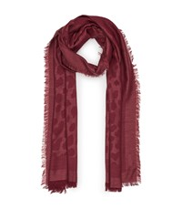 Reiss Fleur Textured Scarf In Red Womens