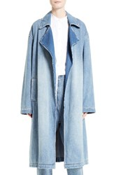 Robert Rodriguez Women's Denim Trench Coat