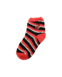 For Bare Feet New Jersey Devils Sleep Soft Candy Striped Socks Red Black
