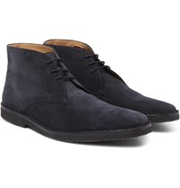 Connolly Suede Driving Boots Navy