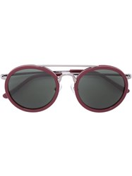 Linda Farrow Round Frame Sunglasses Pink And Purple
