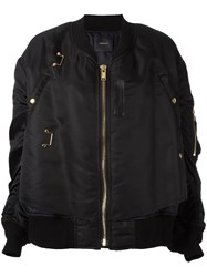 Undercover Zipped Bomber Jacket Black