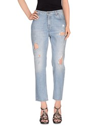 Pence Denim Denim Trousers Women Blue