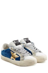 Golden Goose Super Star Leather And Suede Sneakers Multicolor