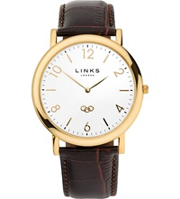 Links Of London Noble Yellow Gold Plated Watch Brown