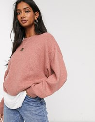 Micha Lounge Jumper With Balloon Sleeve Pink
