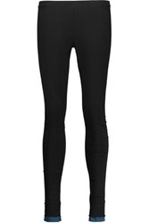 Y 3 Adidas Layered Stretch Cotton Jersey Leggings Black