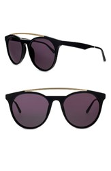 Smoke X Mirrors Women's Sugarman 52Mm Round Sunglasses Black Matte Gold Black Matte Gold