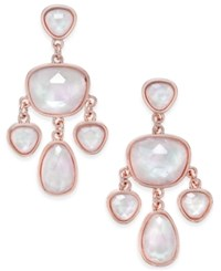 Charter Club Glossy Stone Chandelier Earrings Only At Macy's Rose Gold