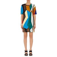 Marni Women's Twill Short Sleeve Shift Dress No Color