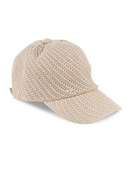 Saks Fifth Avenue Packable Baseball Cap Taupe