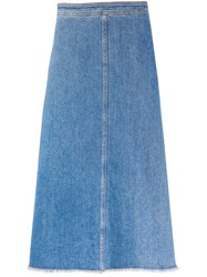 Philosophy Di Lorenzo Serafini Frayed A Line Denim Skirt 60