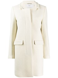 Closed Single Breasted Fitted Coat Neutrals