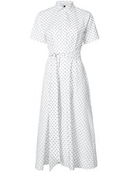 Lisa Marie Fernandez Polka Dot Shirt Dress Women Cotton 3 White