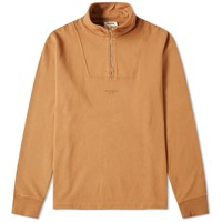 Acne Studios Faraz Stamp Quarter Zip Sweat Brown