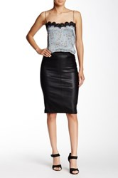 Scoop Stretch Lamb Skirt Black