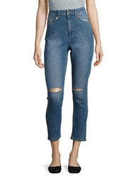French Connection Ash Distressed Cropped Jeans Vintage Wash