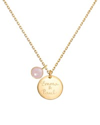 Merci Maman Personalized Gemstone Necklace Gold