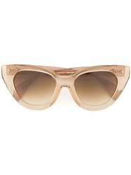 Oscar De La Renta Holly Large Cat Eye Sunglasses Brown