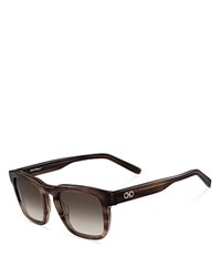 Salvatore Ferragamo Sf827sm Sunglasses 51Mm Striped Brown