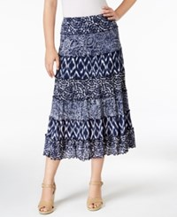 Jm Collection Petite Printed A Line Skirt Only At Macy's Valley Trio