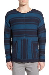 Outerknown Men's Stripe Cotton And Alpaca Pullover