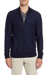 Bonobos Cotton And Cashmere Bomber Sweater Midnight Blue