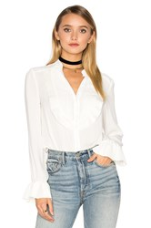 Free People Ruffle Pintuck All Shook Up Top Ivory