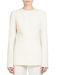 Stella Mccartney Doubleface Wool Crepe Tunic Optical White