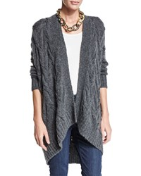 Eileen Fisher Fisher Project Cable Knit Cardigan Grey