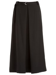 Max Studio Twill Midi Skirt Black