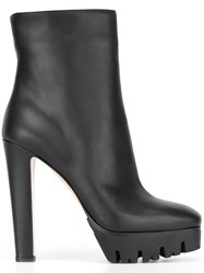 Le Silla Square Toe Ankle Boots Black