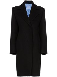 Thierry Mugler Tailored Mid Length Coat Black