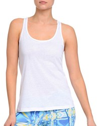 2Xist Crisscross Burnout Tank Top White
