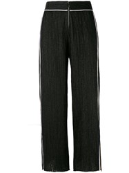 Aviu Side Stripe Track Pants Women Cotton Polyamide Polyester Spandex Elastane 44 Black