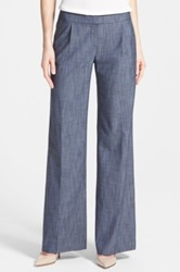 Halogen 'Quinn' Wide Leg Pants Blue