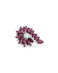 Magnipheasant Cocktail Ring With Red Garnet And Diamonds Stephen Webster