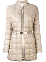 Fay Belted Puffer Jacket Women Feather Down Polyamide Polyester Polyurethane Xl Nude Neutrals