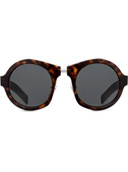 Prada Eyewear Mirrored Lens Sunglasses Brown