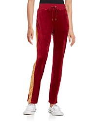 Highline Collective Contrast Velour Pants Red