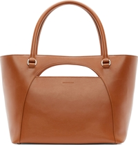 J.W.Anderson Tan Leather Moon Cut Out Tote Bag