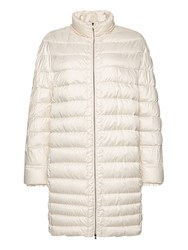 Marc Cain Long Down Filled Coat Panna