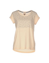 Tommy Hilfiger Denim Topwear T Shirts Women Apricot