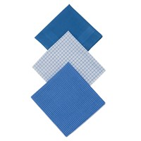 John Lewis Designer Handkerchiefs Pack Of 3 Blue