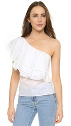 Designers Remix Manly Flare Top White