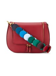 Anya Hindmarch Vere Link Strap Satchel Women Cotton Leather One Size Red